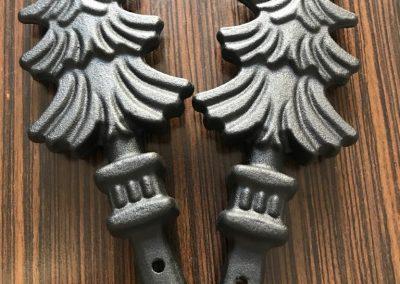 Прахово боядисване на елементи за ковано желязо